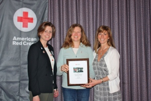 Alaine Williams, Director of Volunteer Services, NH Region  Heidi Foster Maria White, Chief Executive Officer, American Red Cross NH
